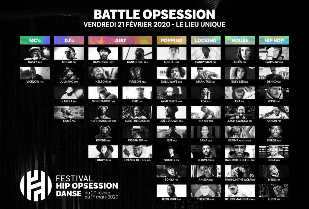 Line-up Battle Opsession J1